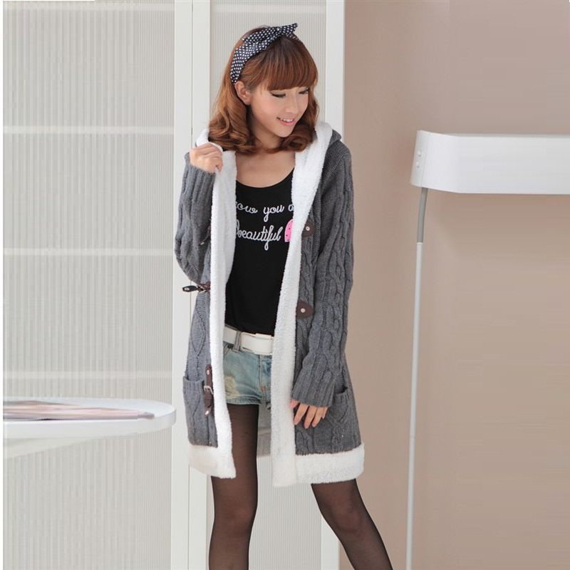 New Womens Korean Version Thickened Hoody Sweater/Jacket