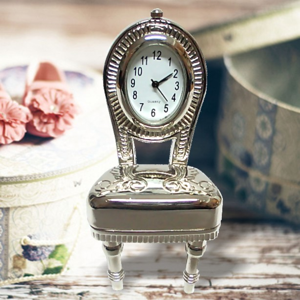 SQS-K39 Miniature Metal Clock Mini Vanity Chair