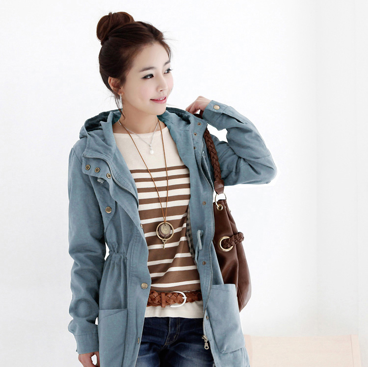 New Womens Korean Style Slim Long Casual Trench/Coat
