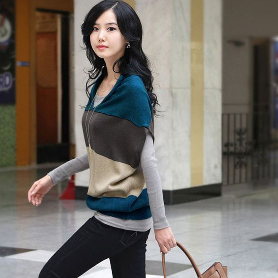 New Womens Korean Style Knitted Batwing coat/Sweater