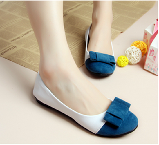 Womens Shoes Round Toe Bow Ballet Flats Loafers